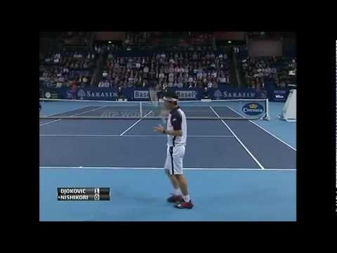 Novak Djokovic vs Kei Nishikori 2011 Basel SF DIGEST