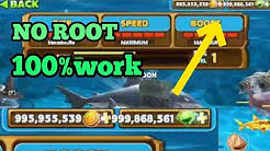 cara cheat hungry shark,NO ROOT! 100% work