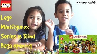 Mainan LEGO Minifigures Series 13 - Opening 15 Blind Bags!!