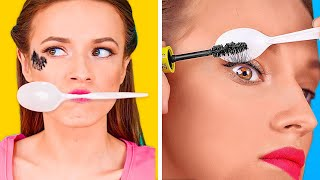 BEAUTY HACKS TO SPEED UP YOUR DAILY ROUTINE || Easy Girly Tips by 123 Go! Genius