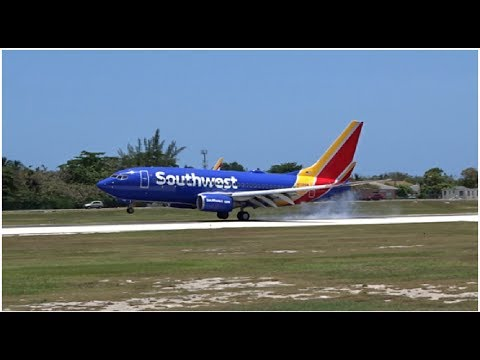 INAUGURAL SOUTHWEST AIRLINES FLIGHT TO GRAND CAYMAN | Arrival & Departure