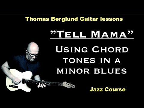 """Tell mama """"Minor blues"""" (Using of chord tones in the soloing) - Jazz Guitar lesson"""