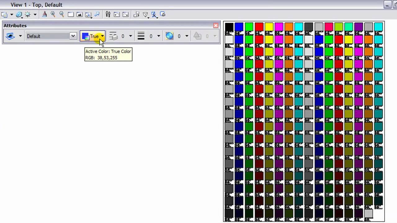 Microstation V8i Tip Colors
