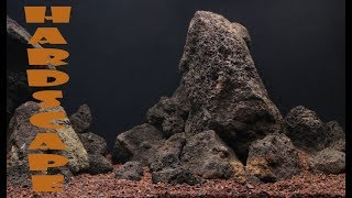 Оформление аквариума вулканической лавой