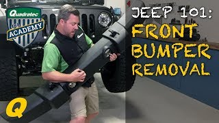 How to Remove Factory Front Bumper on Your Jeep Wrangler JK