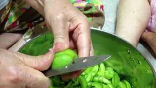 매실장아찌 씨앗과 과육 분리법