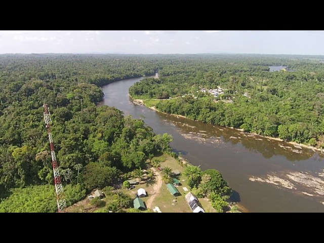 Bakaaboto Jungle Resort - Suriname - By Drone