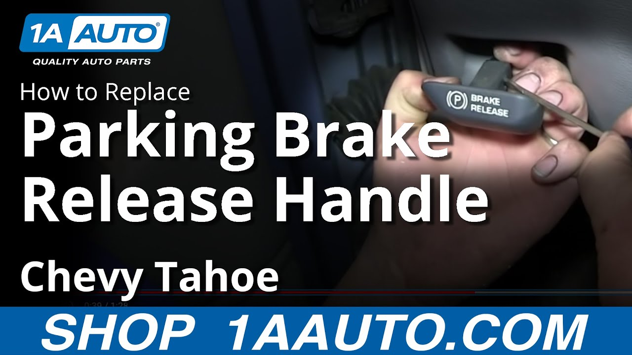 How To Install Replace Fix Broken Parking Brake Handle 1996 99 Chevy 1993 C1500 Wiring Diagram K1500 Suburban