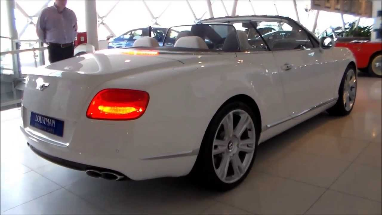 Bentley Continental Gtc V8 Start Up Amp Opening Roof Youtube