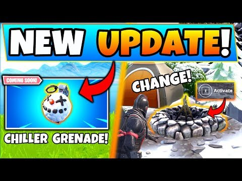 Fortnite CHILLER GRENADE + *NEW* Campfire Changes! - 6 Update Things coming to Battle Royale! thumbnail