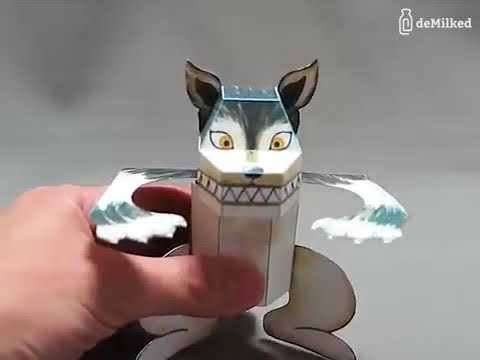 Japanese paper toys with hidden surprises
