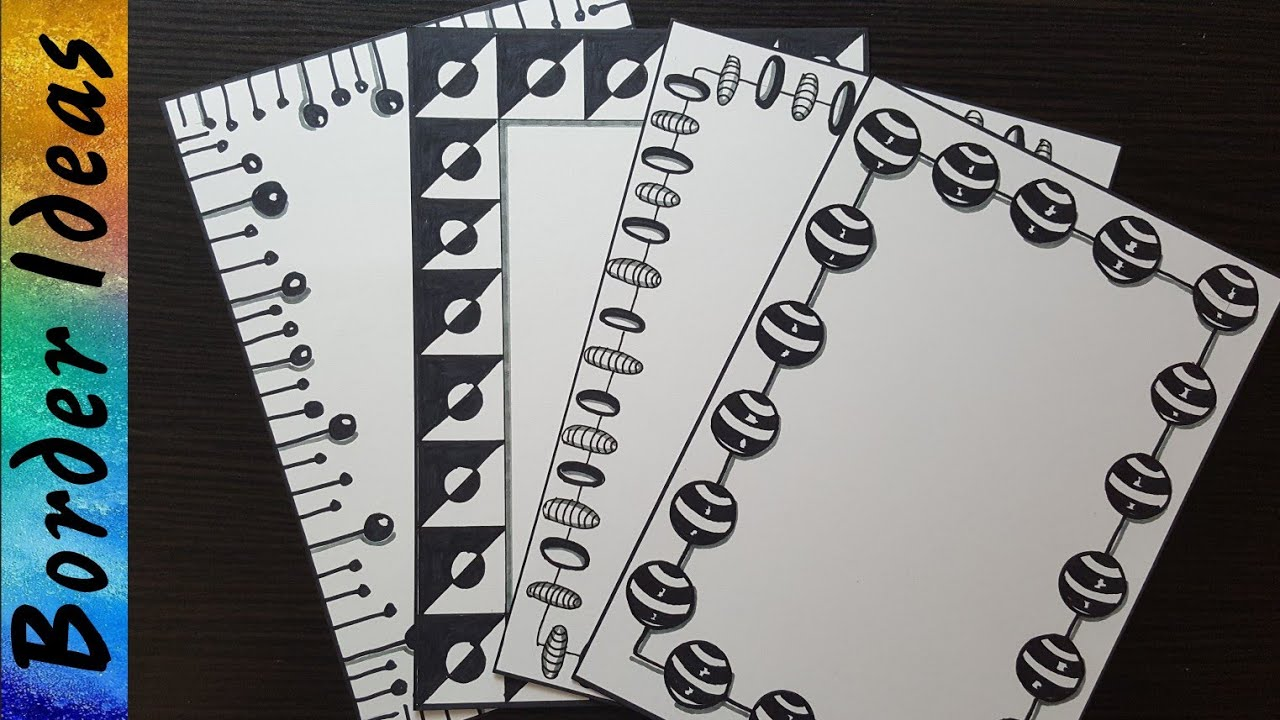 Black Border Designs On Paper Border Designs Project Work