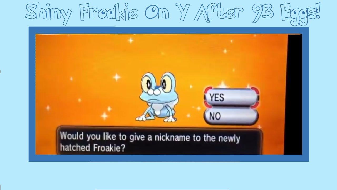 Shiny Froakie On Y After 93 Eggs!! (All Shiny Kalos ...