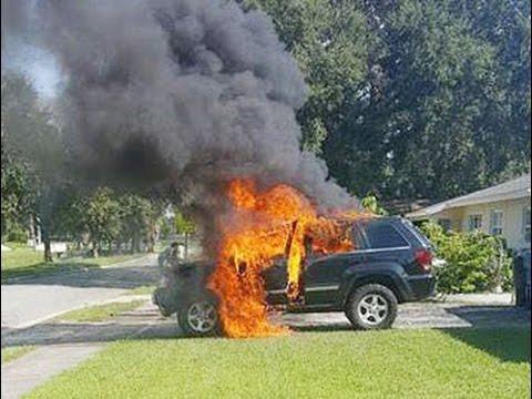 Galaxy Note 7 phát nổ thiêu rụi xe Jeep