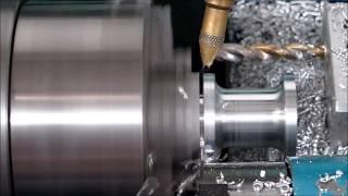 Benchtop cnc lathe making Aluminium Spacer