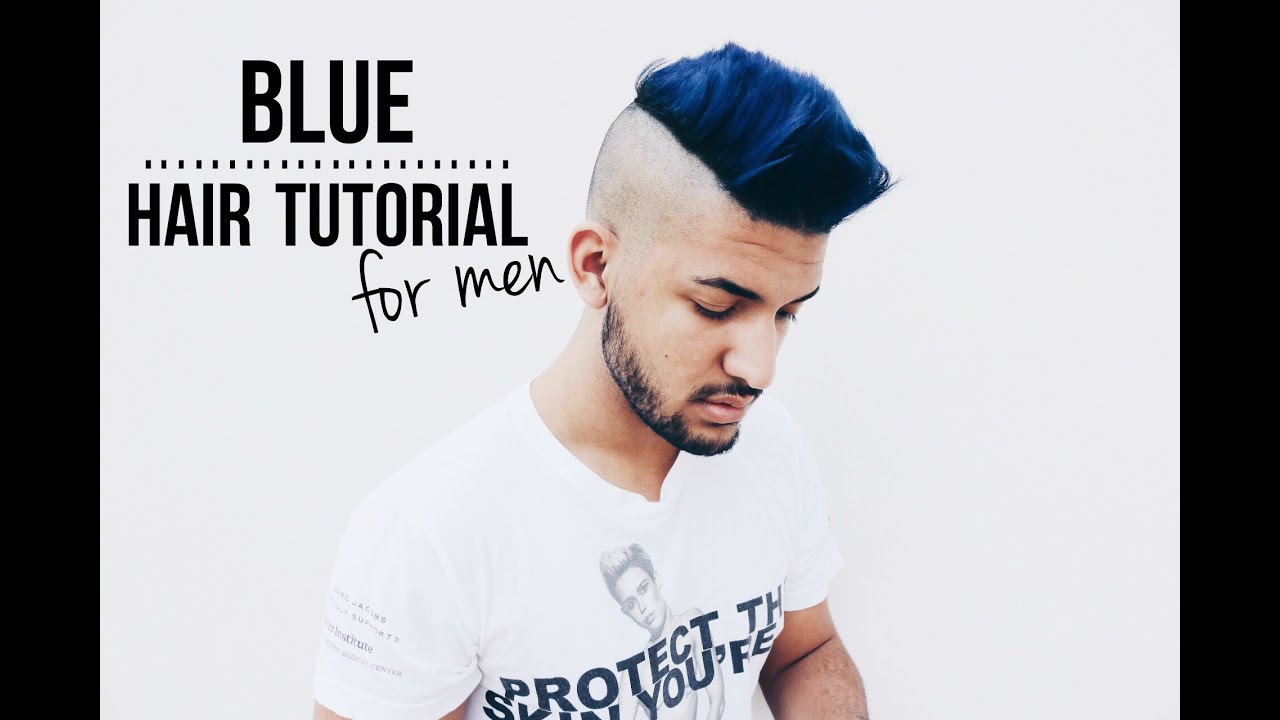 i dyed my hair blue hair tutorial for men youtube