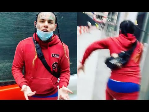 6ix9ine Gets Chased In New York After Running Into The Wrong Fan 😂 WAIT FOR IT!