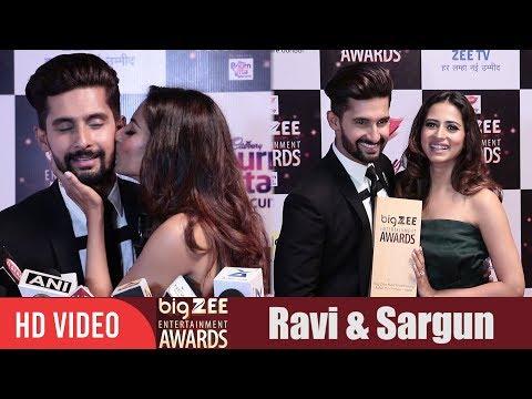 Ravi Dubey and Sargun Mehta at Big Zee Entertainment Awards 2017 | #BigZeeAwards