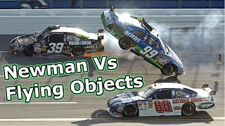 Ryan Newman Vs Flying Objects