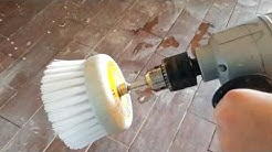 The easiest way to clean thinset mortar from tile