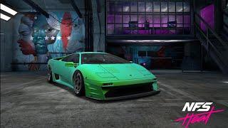 NFS Heat Studio:Customizing a rare classic Lamborghini Diablo SV