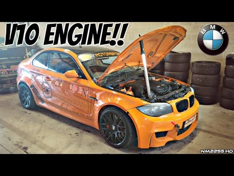 BMW 1M Coupè with E60 M5 V10 Engine Swap!! - LOUD Sounds & Manji Drifting!