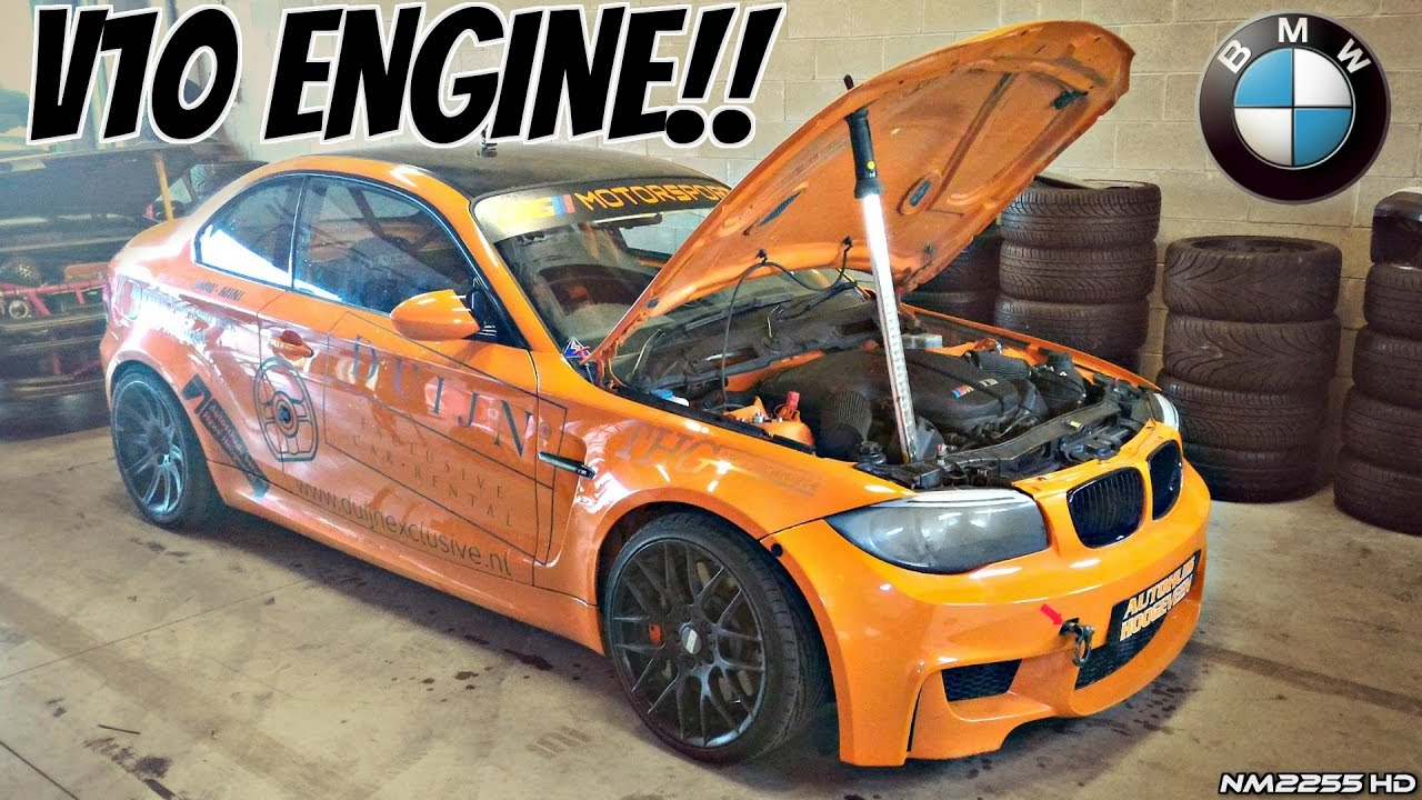 Bmw 1m Coup With E60 M5 V10 Engine Swap Loud Sounds Manji Conversion Kit Drifting Youtube