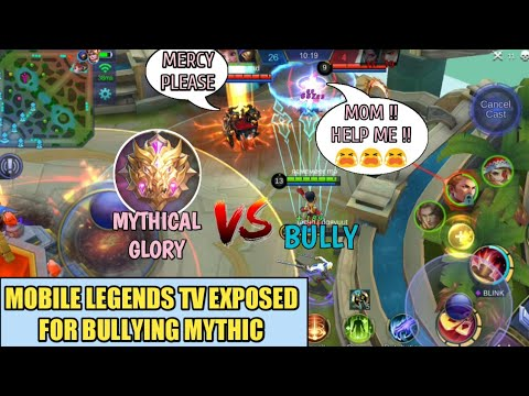 ML TV EXPOSED FOR BULLYING MYTHICAL GLORY   MOBILE LEGENDS