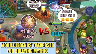 ML TV EXPOSED FOR BULLYING MYTHICAL GLORY | MOBILE LEGENDS