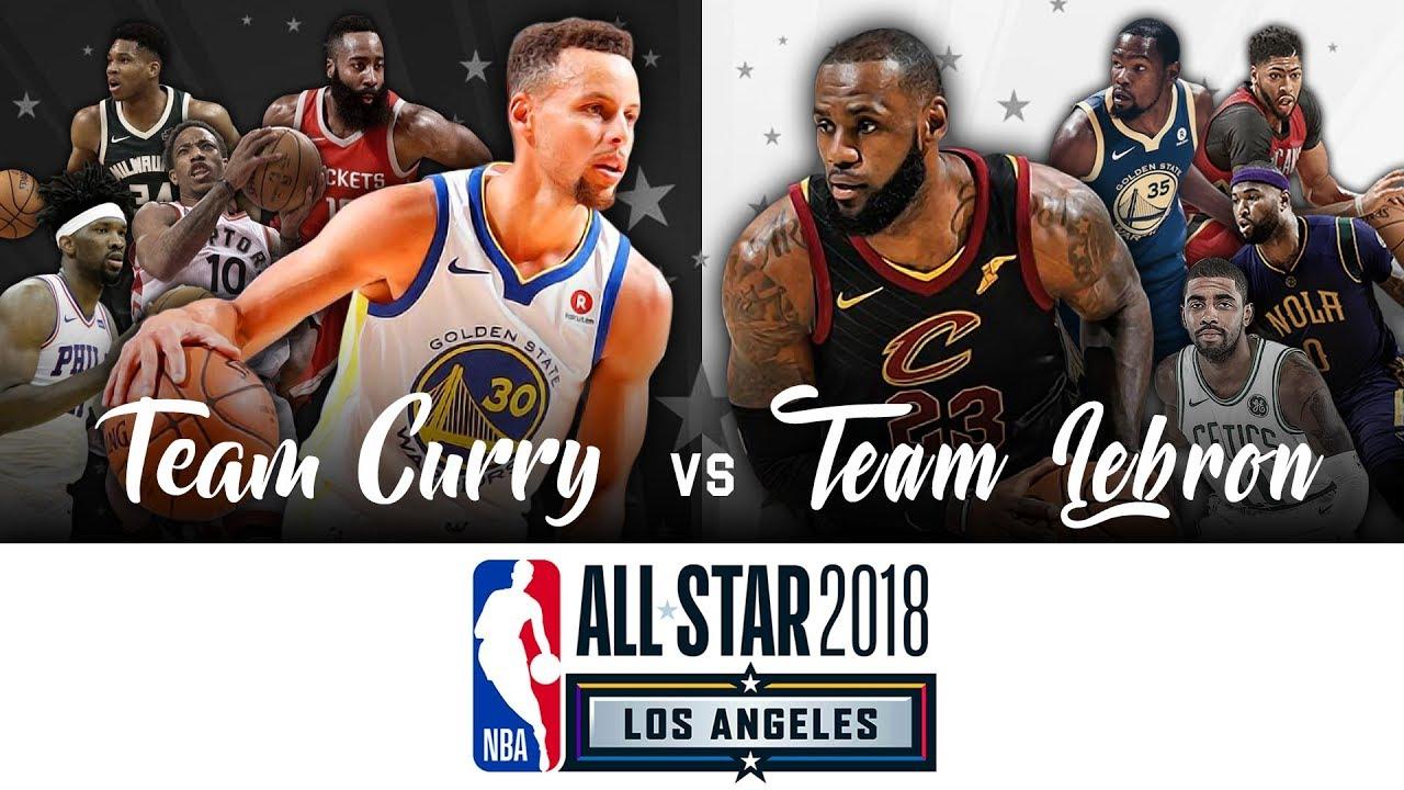 e2ea26a59d28 2018 NBA All Star Game Intro Team CURRY vs Team LEBRON - Greatest Intro Ever