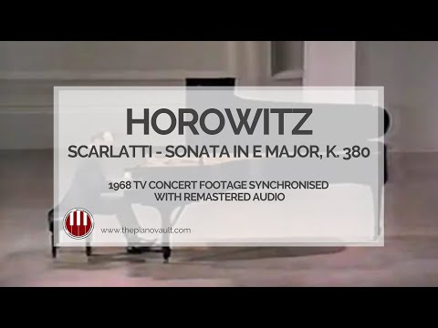 Horowitz - Scarlatti Sonata In E Major, K380. Carnegie Hall. Remastered Audio.