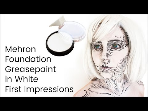Mehron Foundation Greasepaint White First Impressions