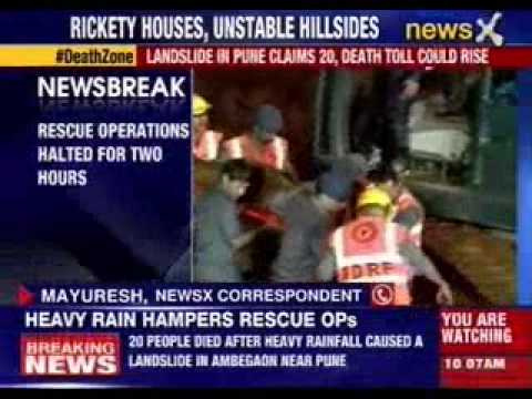 Heavy rains hamper rescue operation in Pune