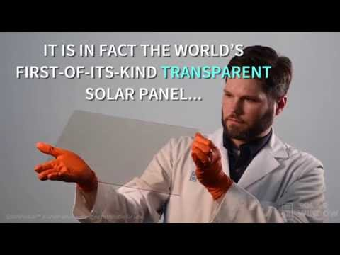 First of its kind transparent solar panel