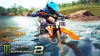 ANDEI DE MOTO na ÁGUA!!! - Monster Energy SuperCross 2