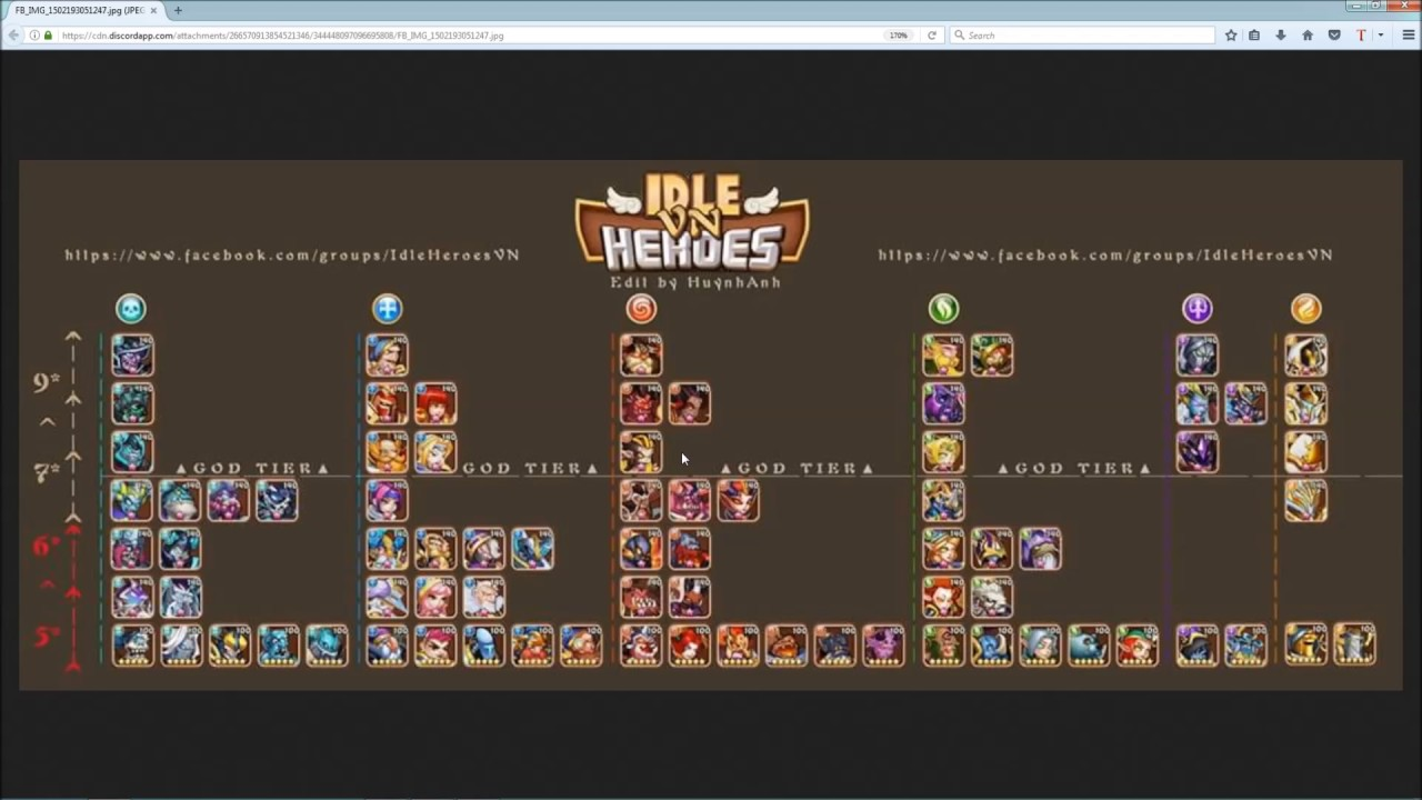 Idle Heroes - God Tier Heroes