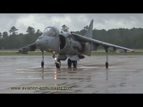 2011 Naval Air Station Oceana Air Show AV-8B Harrier ground / taxi movement (Sunday)