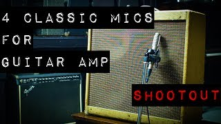 4 Classic Mics for Guitar Amp - Shootout - 414B-ULS, SM57, MD421, R-121