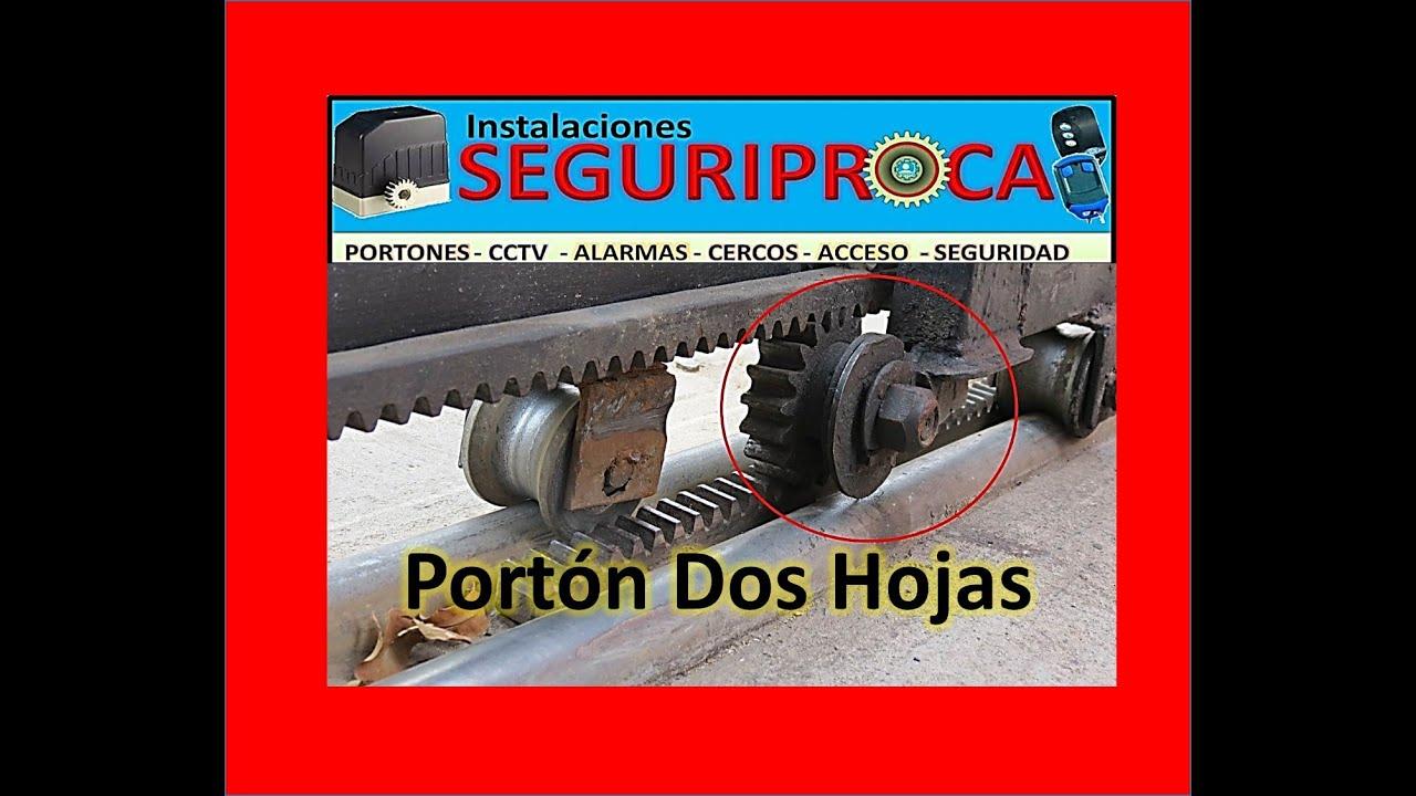 Motor porton dos hojas corredizo seguriproca valencia for Motor porton electrico
