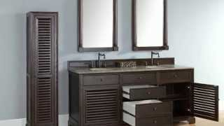 "New James Martin 72"" Double Savannah Bathroom Vanities In Solid Wood From Homethangs.com"