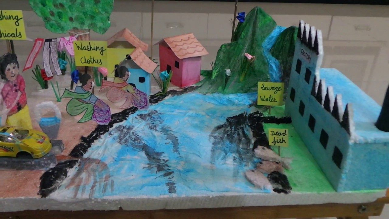 A SCIENCE PROJECT ON POLLUTION WATER AND AIR DURVIL