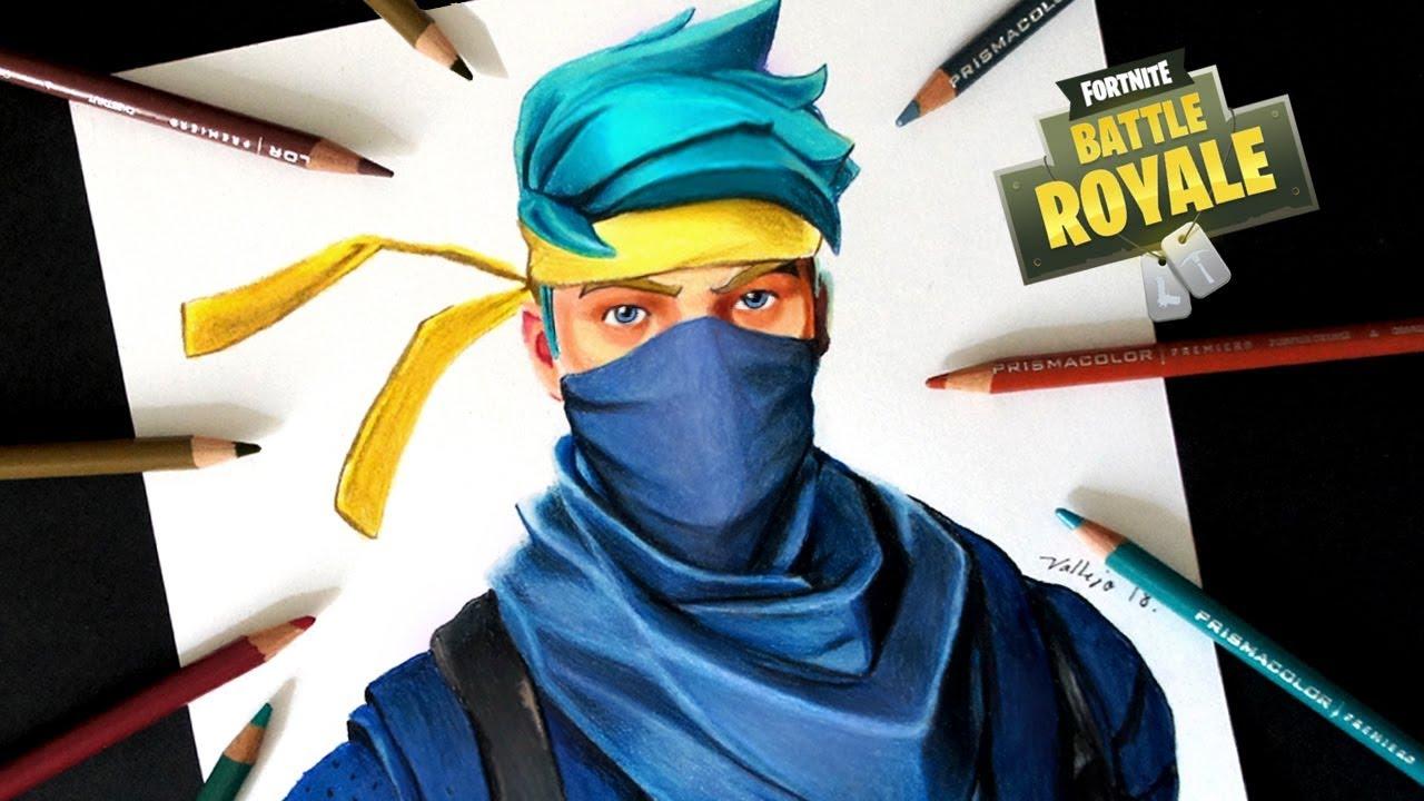 Dibujo De Ninja Skin De Fortnite How To Draw Ninja Skin
