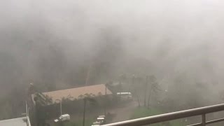 WATCH: Sudden burst as Cyclone Debbie hits Australian hotel