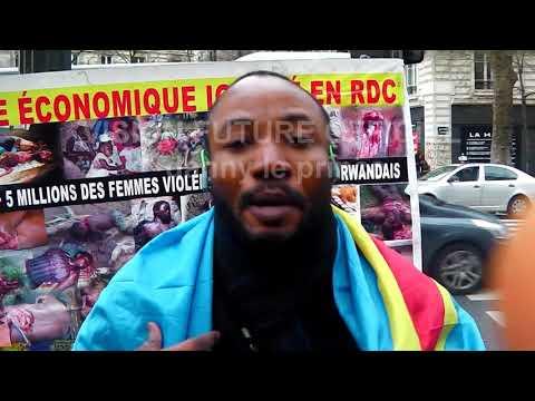 MARCHE POUR LA LIBERATION DE NOTRE PAYS RD CONGO a CHATEAUX ROUGE le16-2-2018 debout congolais