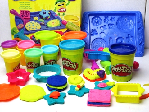 play doh cookies creations play set cooking set youtube. Black Bedroom Furniture Sets. Home Design Ideas