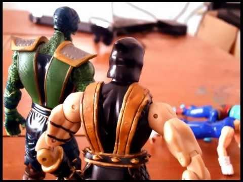 Dragon ball z vs Mortal kombat Toys Stop motion Battle team!