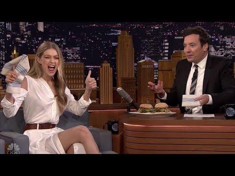 Download Youtube: Gigi Hadid & Jimmy Fallon Eat Burgers AGAIN & Model Matching Shoes