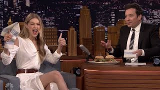 Gigi Hadid & Jimmy Fallon Eat Burgers AGAIN & Model Matching Shoes
