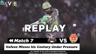 Mohammad Hafeez Batting Highlights Lahore Qalandars Vs  Slamabad United HBL PSL 5 2020