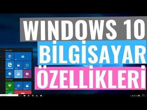 Windows Bilgisayar Sistem Özelliklerini Öğrenme